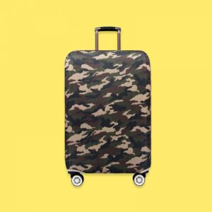 Protective Luggage Cover in color Jungle Camo