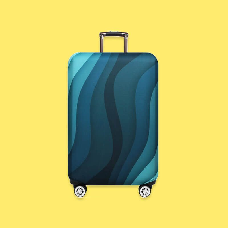 Protective Luggage Cover in color Ocean Blue