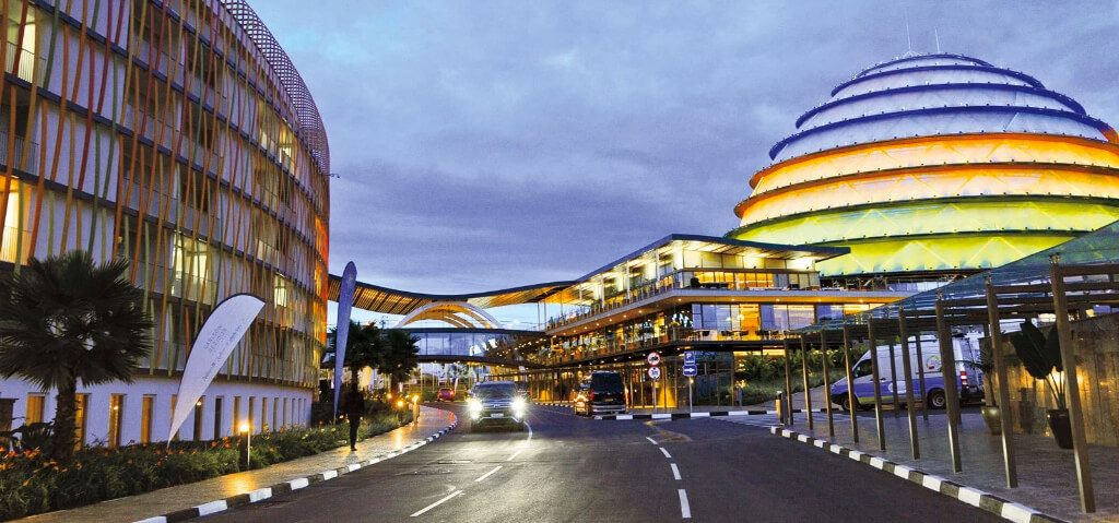 Spotless city streets of Kigali
